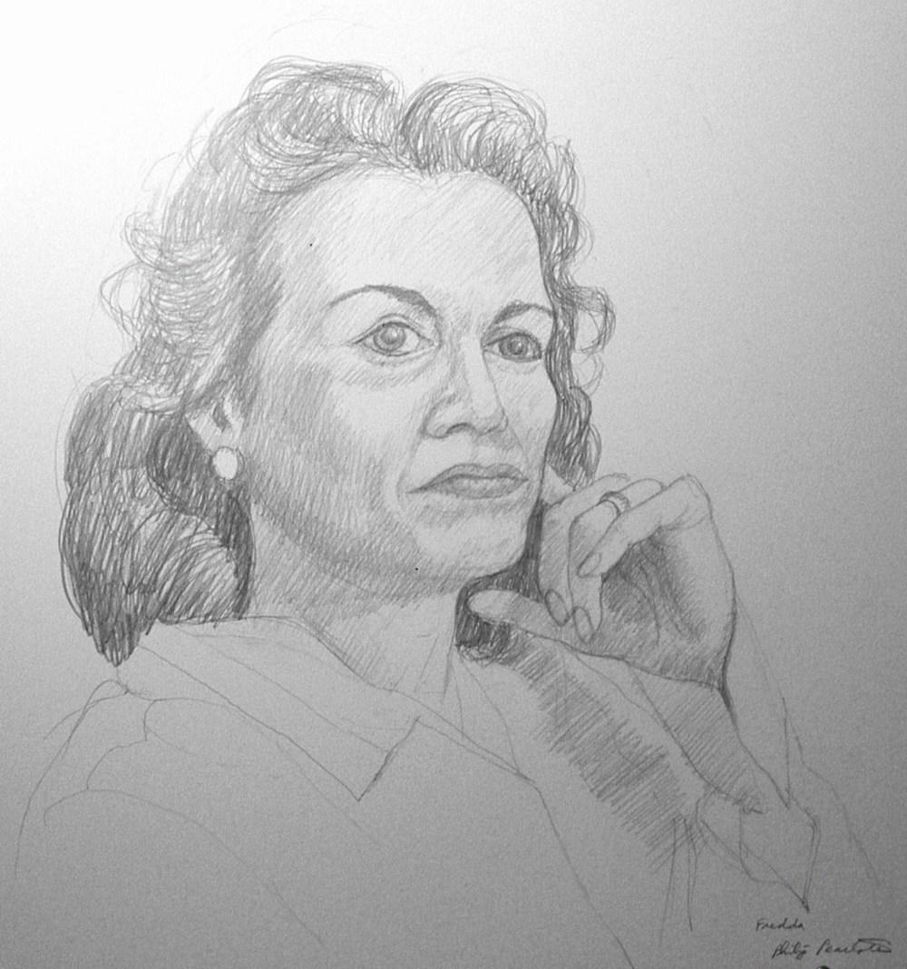 Fredda , 1974 Pencil