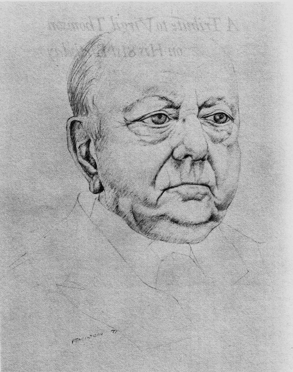 Virgil Thomson , 1977 Pencil (Scan from book)