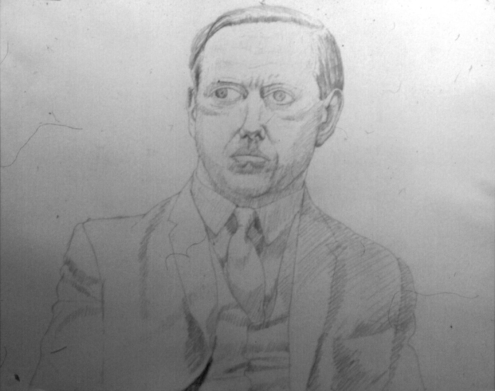 Portrait of Diebold , 1966 Pencil on paper