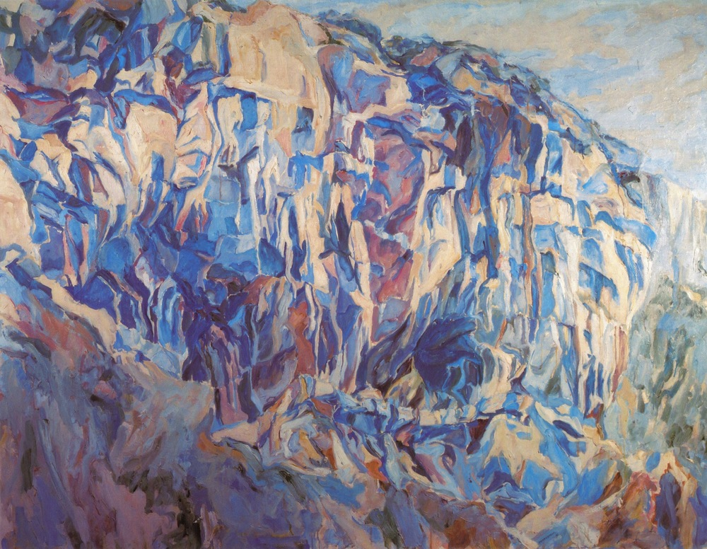 Cliff Amalfi , 1961 Oil on canvas 54 x 70 in