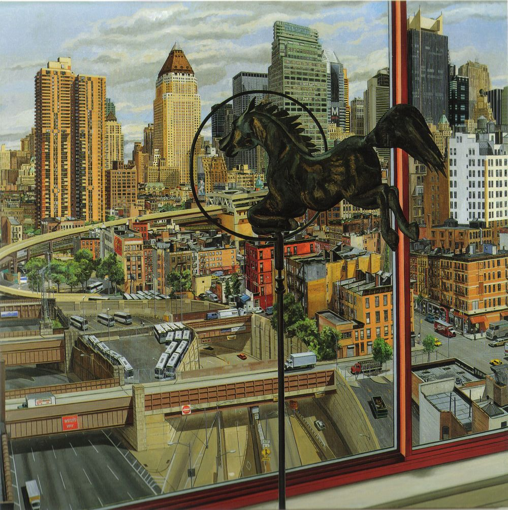 Entrance to Lincoln Tunnel, Daytime,  1992 Oil on canvas 72 x 72 in