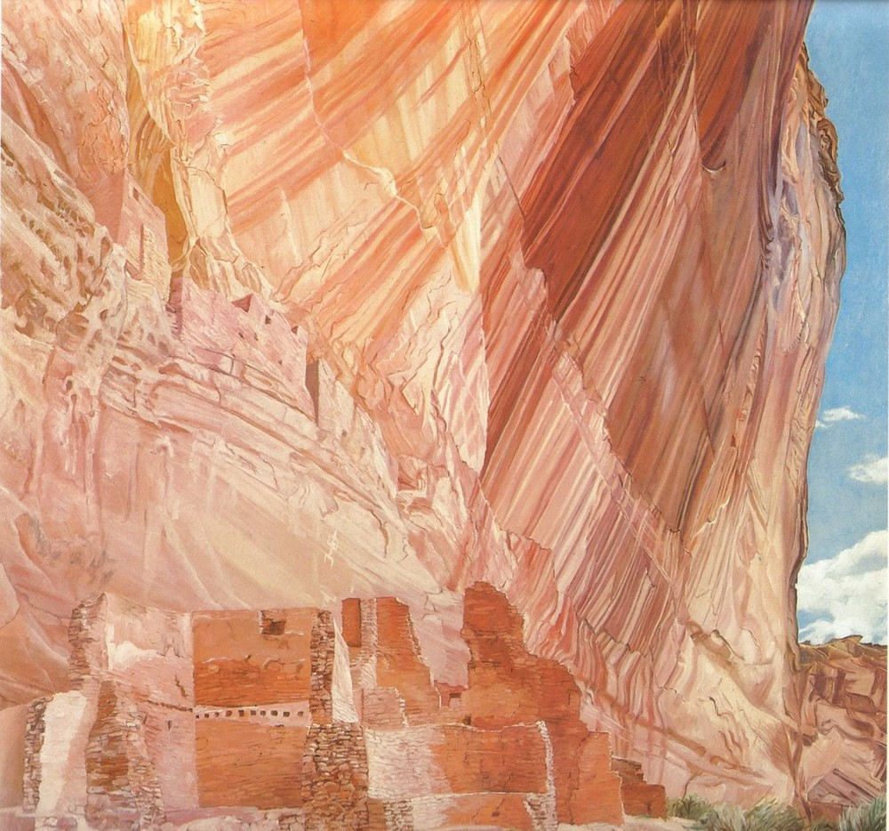 White House Ruin, Canyon de Chelly - Morning , 1974 Oil on canvas 60 x 60 in