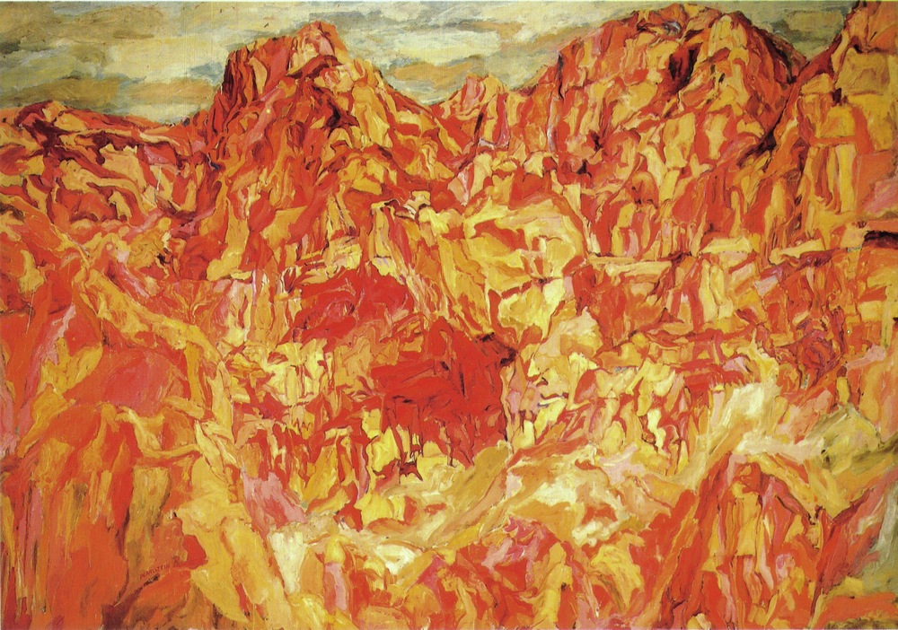 Positano #2 , 1960 Oil on canvas 67 x 96 in