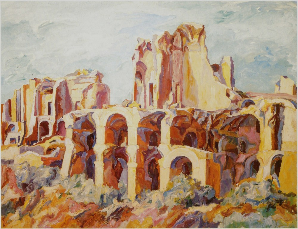 Palatine , 1961 Oil on canvas 54 x 69 in