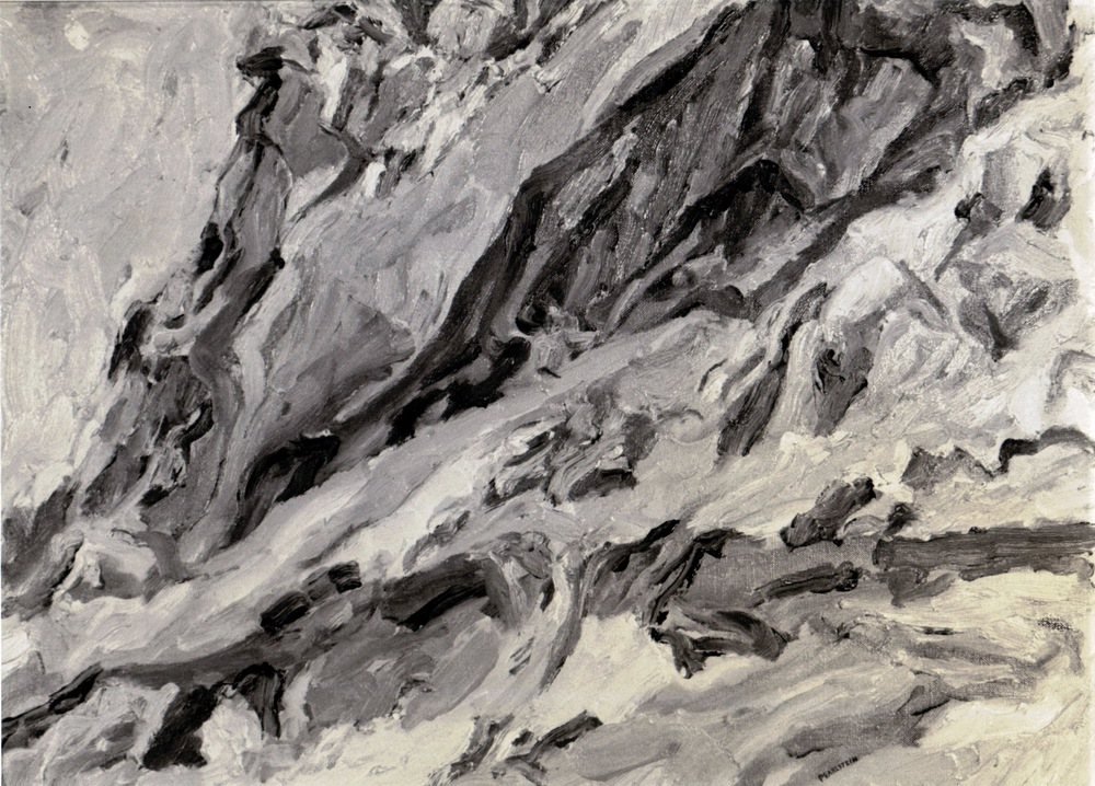 Roman Landscape , 1959 Oil on canvas 15.5 x 21.5 in (B&W image)