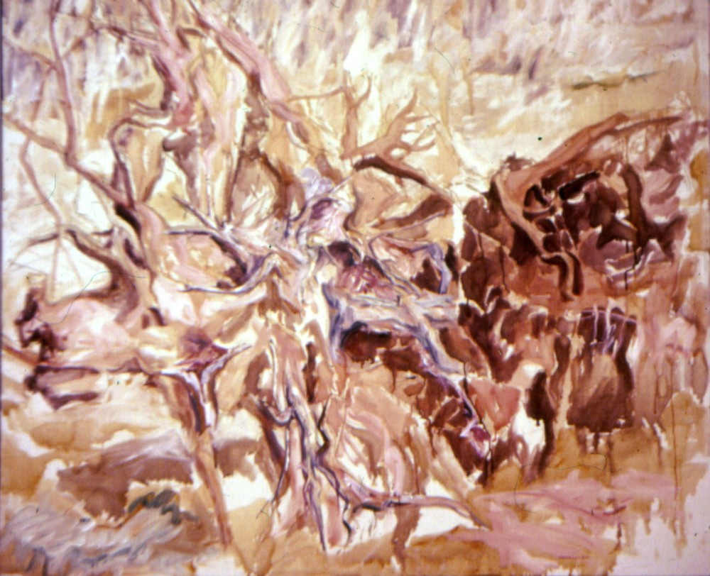 Tree Roots #1 , 1958 Oil on canvas 44 x 52 in