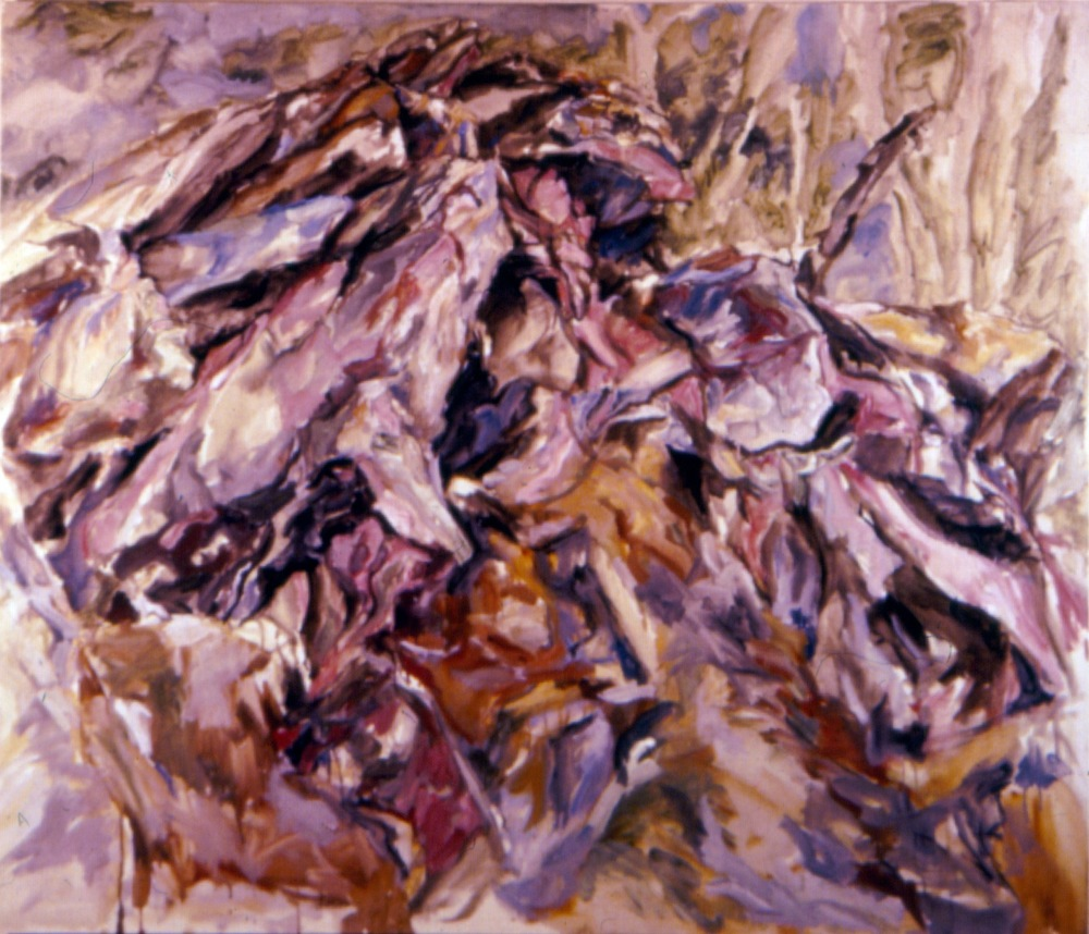 Rock Mound , 1958 Oil on canvas 44 x 52 in