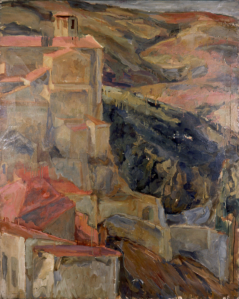 Umbria , 1958 Oil on canvas 48.5 x 39 in
