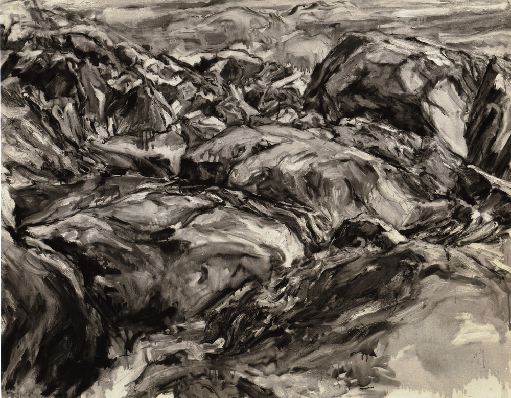 Seaside Rocks , 1957 Oil on canvas 40 x 52 in