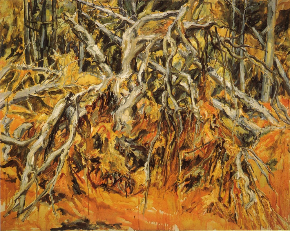 Uprooted Tree , 1957 Oil on canvas 48 x 60 in