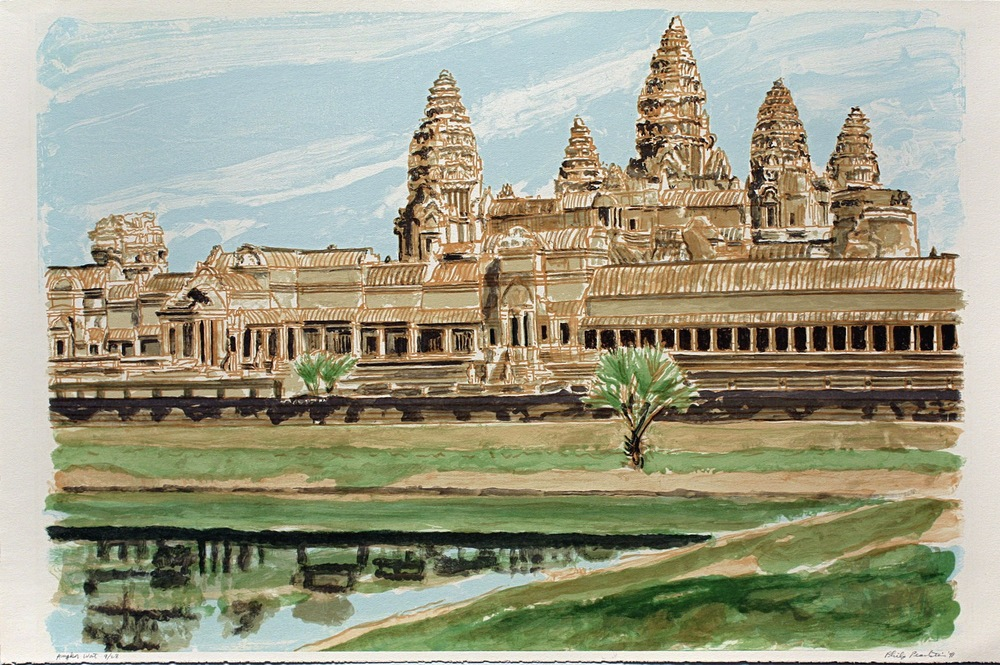 Angkor Wat , 1997-1998 Watercolor on Paper 22 1/2 x 30 1/4 inches