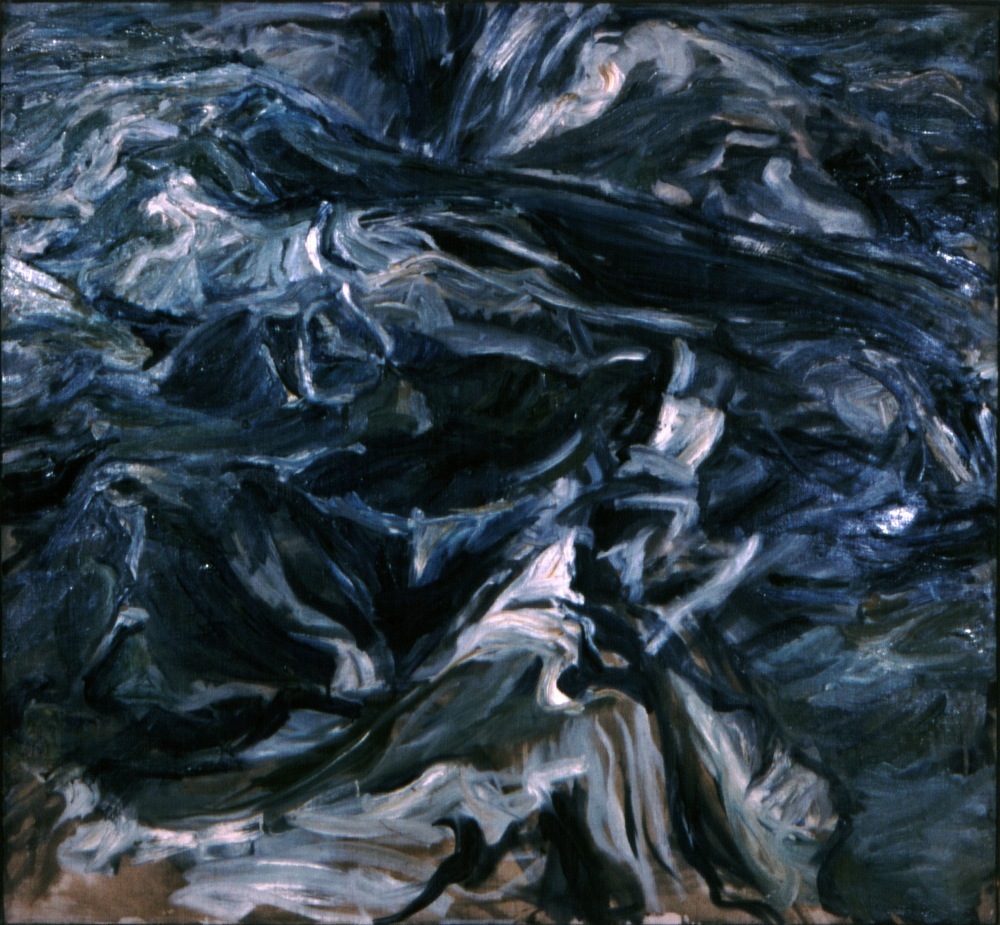Waves , 1956 Oil on canvas 44 x 48 inches