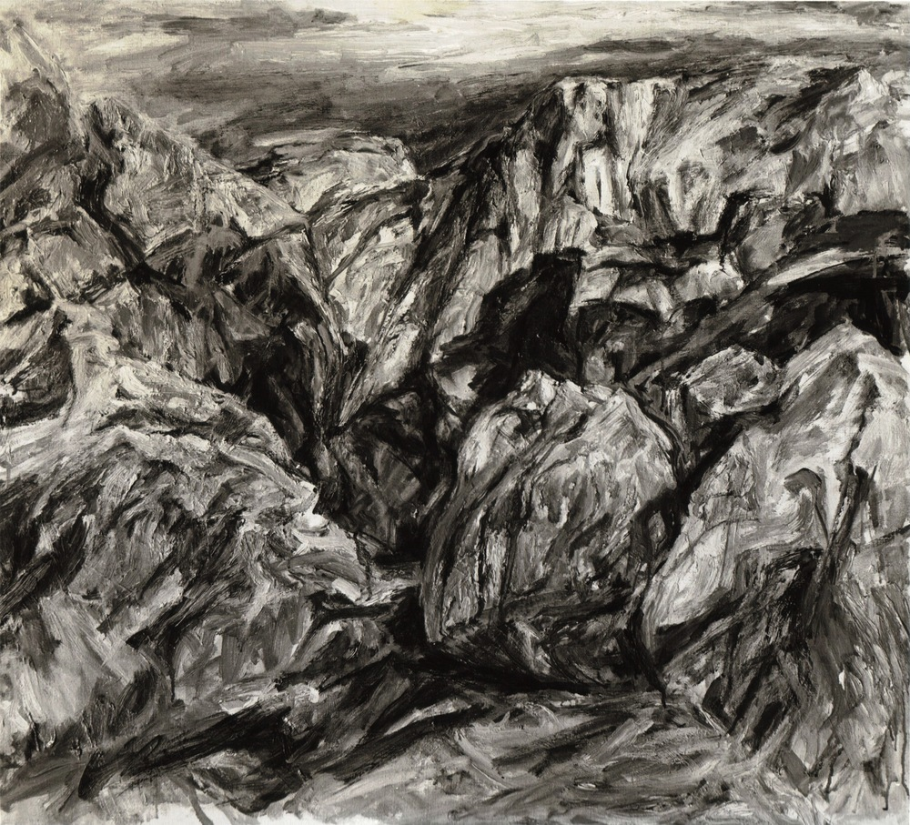 Sunlit Cliff , 1956 Oil on canvas 36 x 40 inches