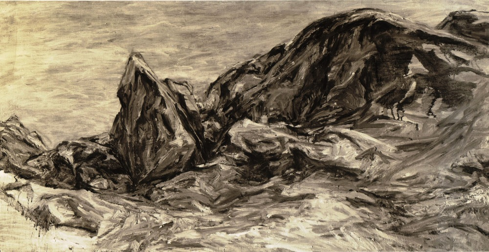 Rocky Edge , 1956 Oil on canvas 30 x 48 in