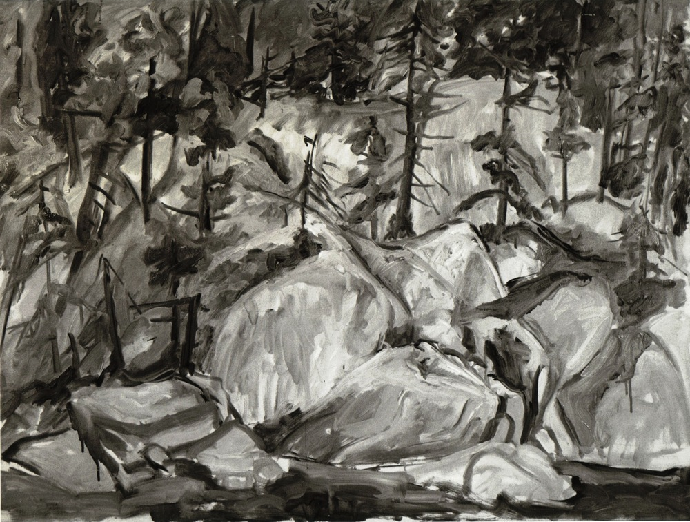 Forest Landscape , 1956 Oil on canvas 36 x 48 in