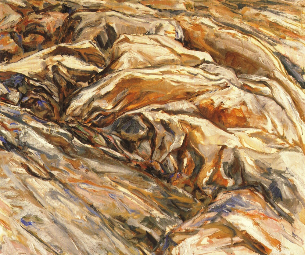 Ridged Rock , 1956 Oil on Canvas 40 x 48 in