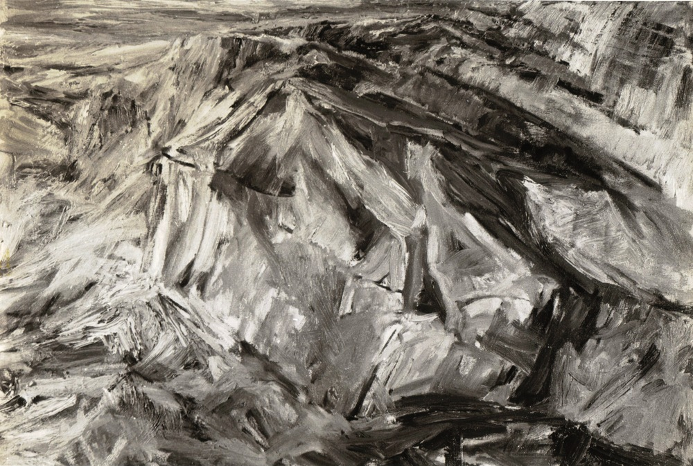 Ridge , 1955 Oil on canvas 21 x 30.5 in