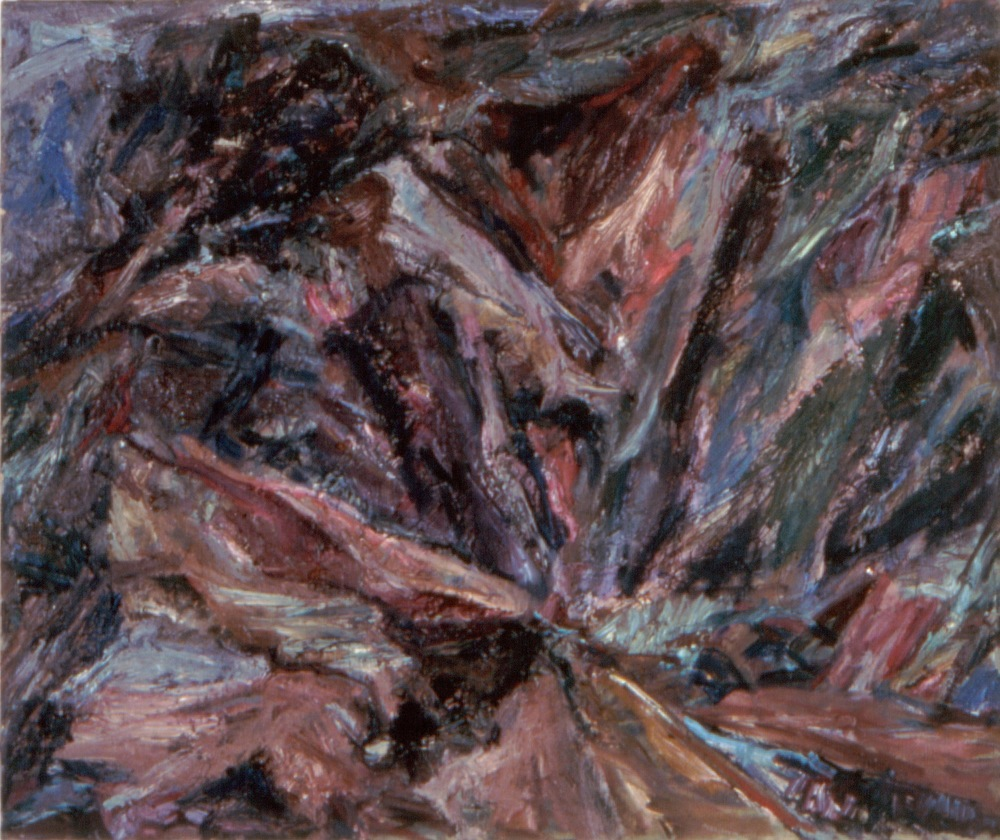 Ravine , 1955 Oil on canvas 25 x 30 in