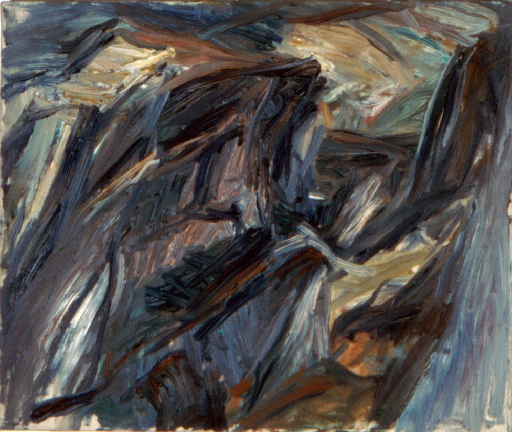 Landscape Study , 1955 Oil on canvas 20 x 24 in
