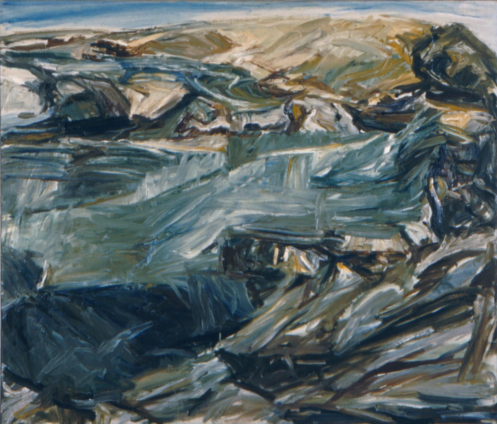 Landscape at Dawn , 1955 Oil on canvas 44 x 52 in