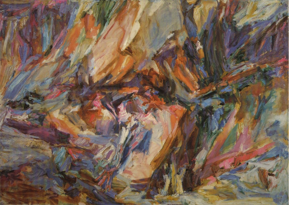Fractured Rock , 1955 Oil on canvas 36 x 50 in