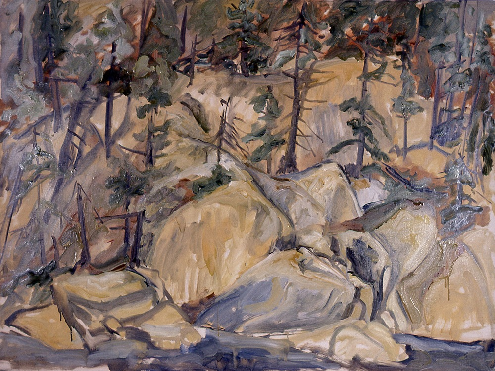 Forest Landscape , 1955 Oil on canvas 36 x 48 in