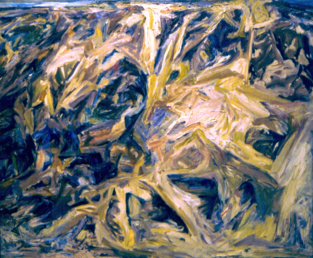 Eroded cliff,  1955 Oil on canvas 36 x 44 in