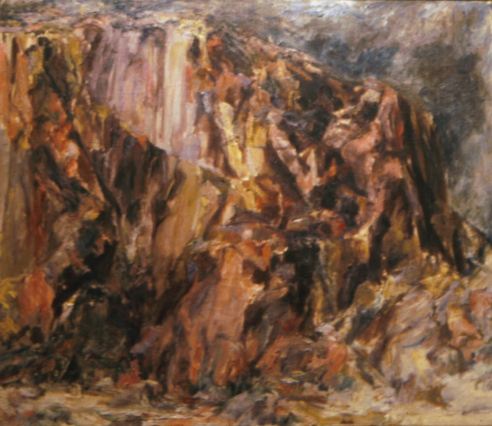 Butte Landscape , 1955-56 Oil on canvas 36 x 44 in