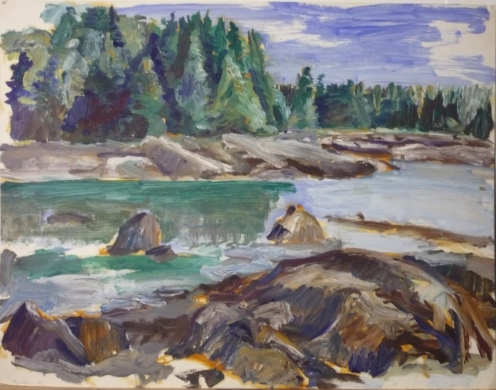 Deer Isle , 1955 Oil on Paper 16.875 x 21.75 in
