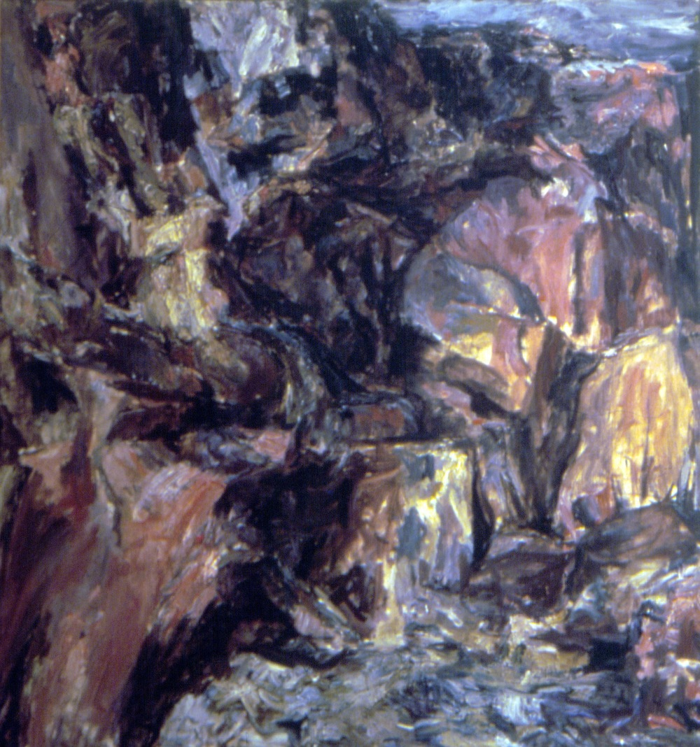 The Face of the Cliff,  1954 Oil on canvas 40 x 36 in