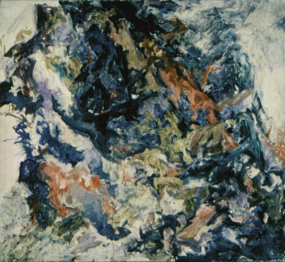 Mountain side , 1954 Oil on canvas 36 x 40 in
