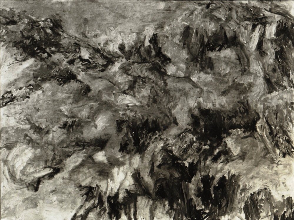 Misty Mountain , 1954 Oil on canvas 37.25 x 49.5 in