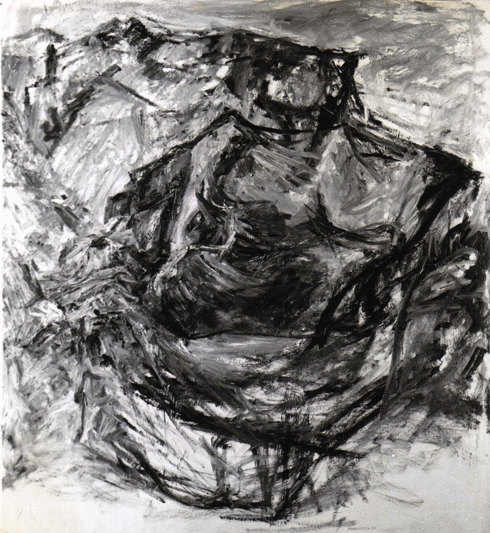 Earth Fragment , 1954 Oil on canvas 40 x 36 in