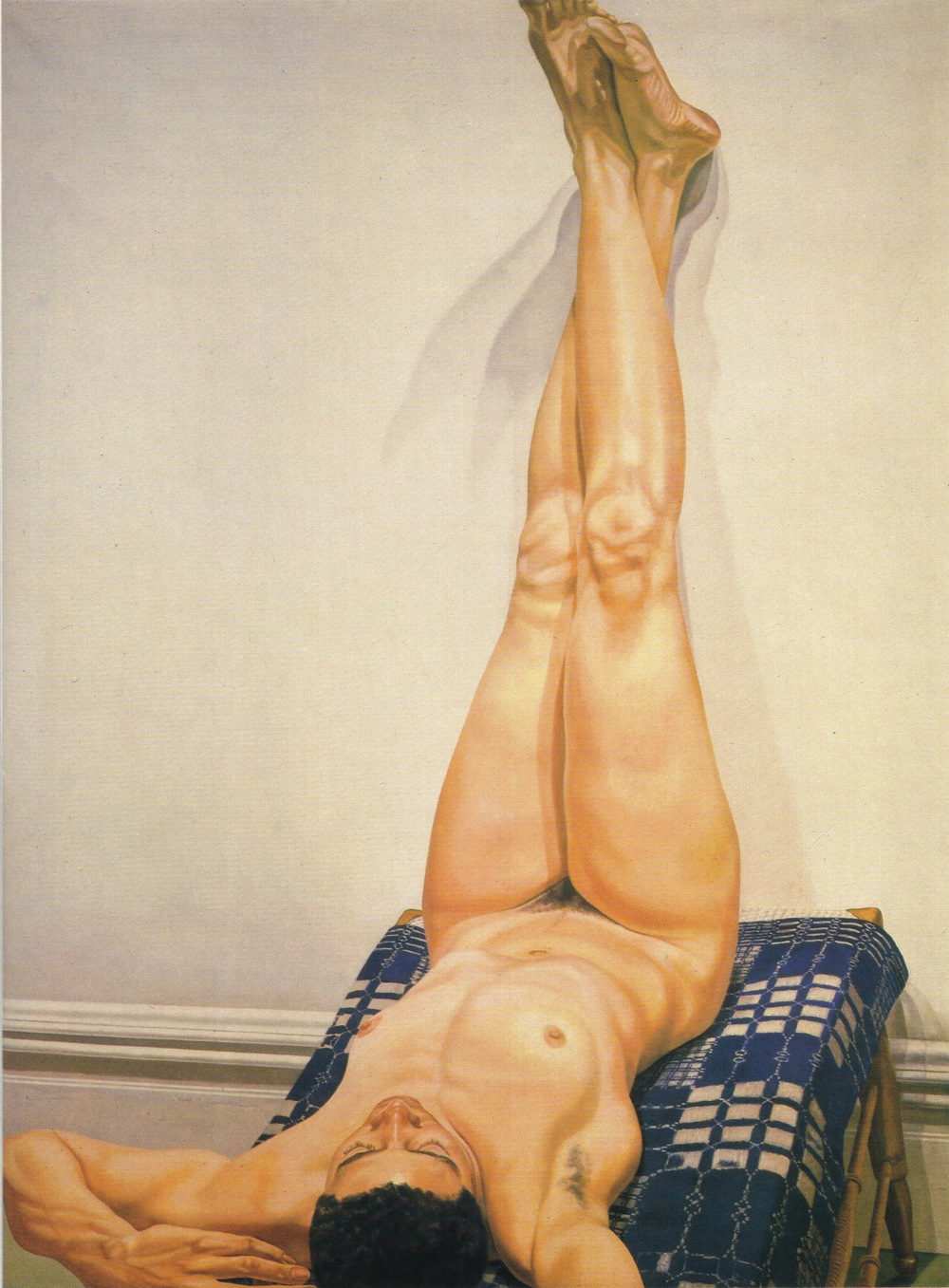 Female Model, Legs Up , 1975 Oil on canvas 72 x 54 in