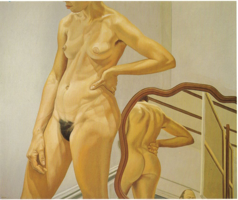 Standing Female Nude with Mirror , 1973 Oil on canvas 60 x 72 in