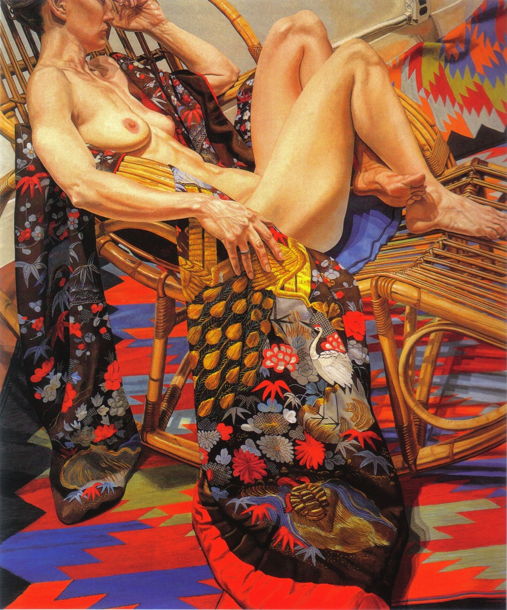 Nude with Peacock Kimono , 1988 Oil on canvas 72 x 60 in