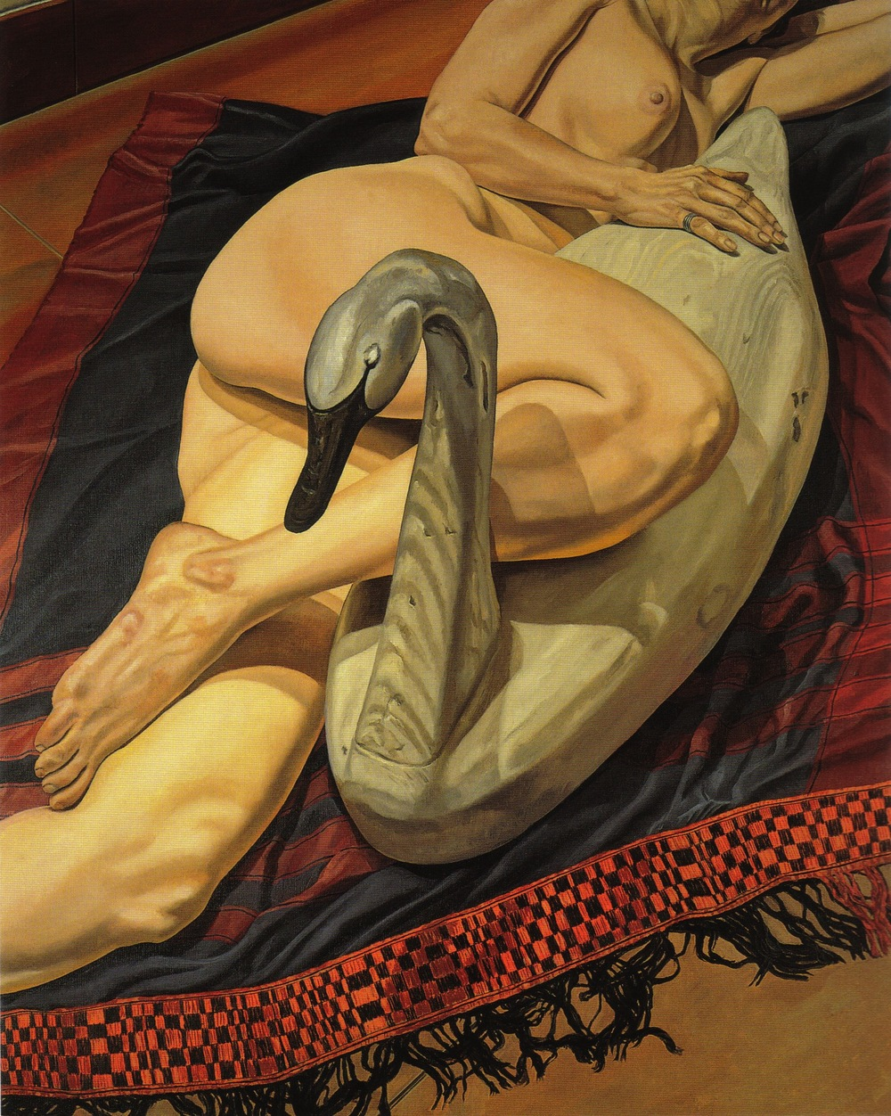 Model with Swan Decoy , 1987 Oil on canvas 60 x 48 in