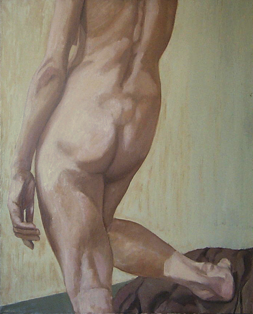 Back Female Nude , 1963 Oil on canvas 30 x 26 in