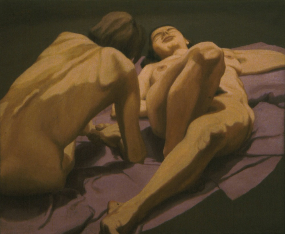 Female Nudes on Floor , 1963 Oil on canvas 36 x 44 in