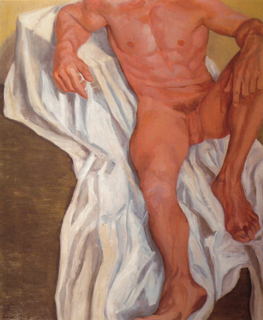 Seated Male , 1962 Oil on Canvas 44 x 36 in