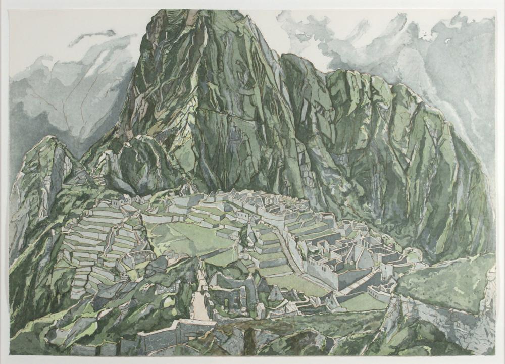 Machu Picchu , 1978-79 Etching, Aquatint 28.5 x 40 in