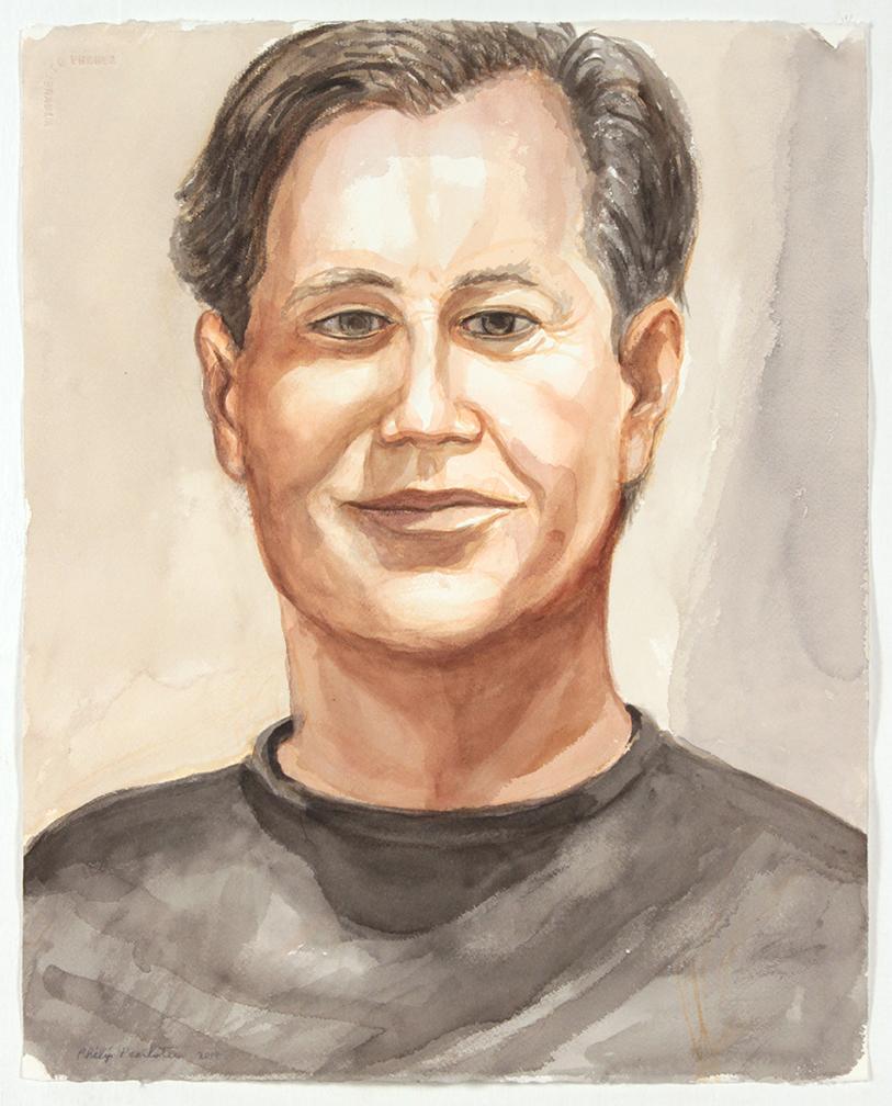 Chris Kass , 2014 Watercolor 20.25x 16.25in