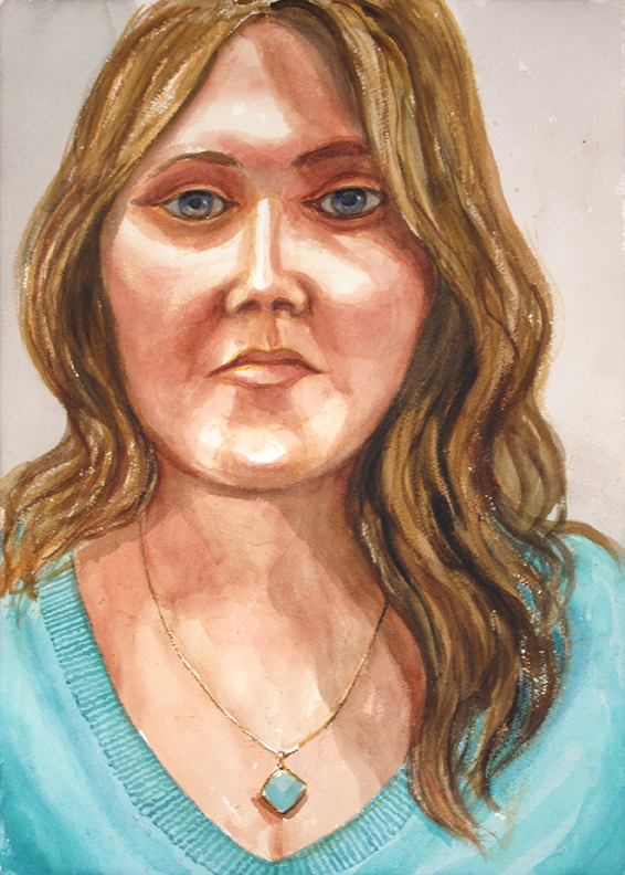 Jessica Kitz , 2014 Watercolor 20 x 14 in