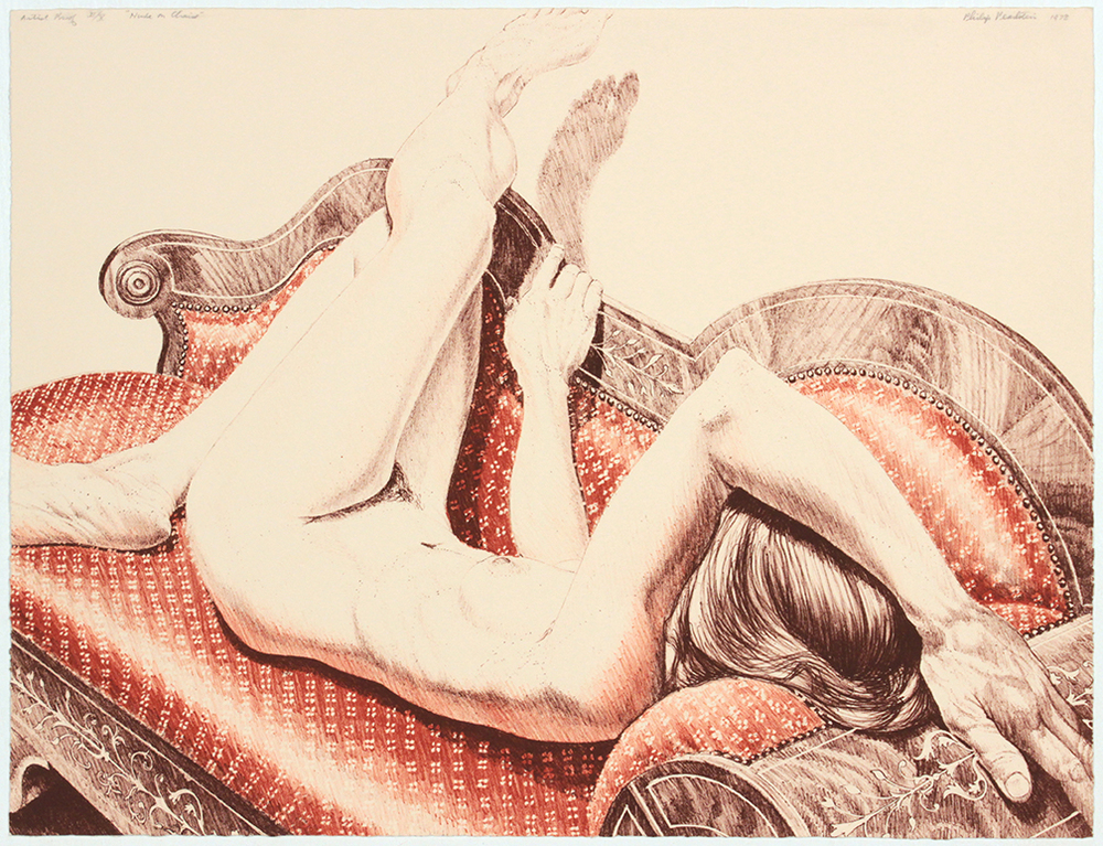 Nude on Chaise , 1978 Lithograph 17.125 x 22.125 in