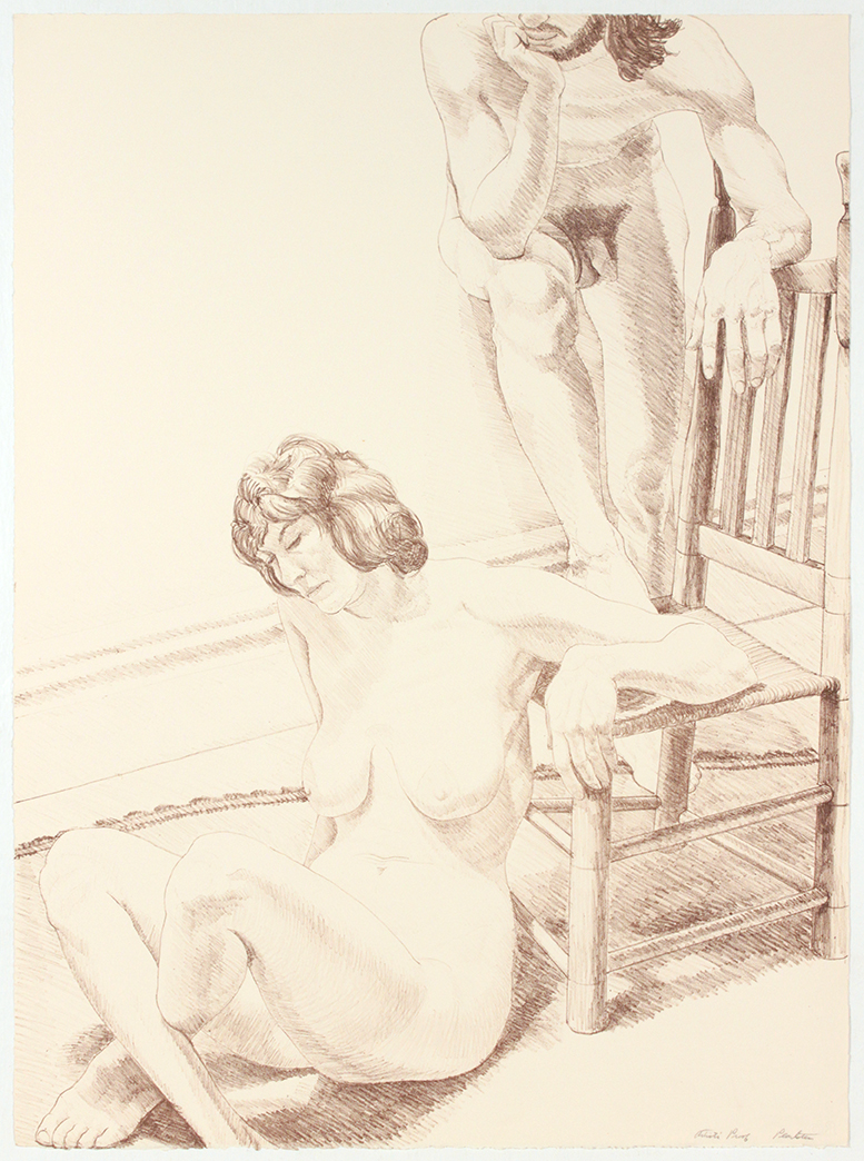 "Male and Female Figure , 1970 From the portfolio ""Six Lithographs Drawn From Life"" Lithogaph 30 x 22 in"
