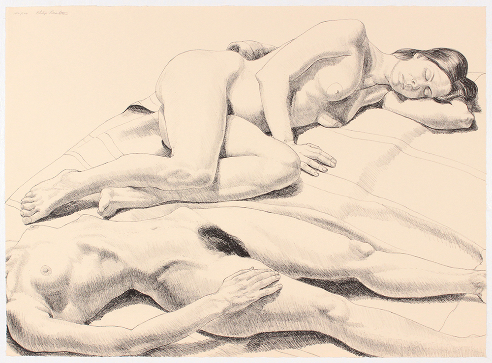 Two Reclining Nudes , 1971 Lithograph 22.0625 x 30.125 in