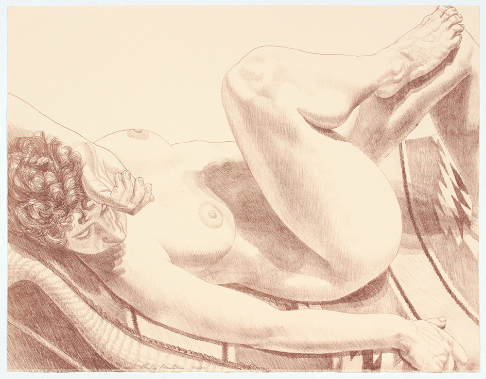 Nude Reclining on Her Back , 1972 Lithograph 20 x 25.75 in