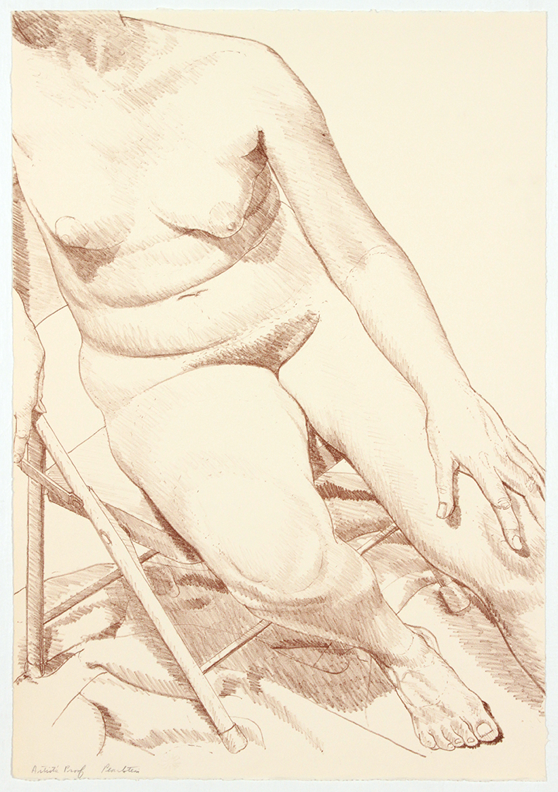 Nude on Folding Stool , 1969 Lithograph 6.8 x 39.5 cm