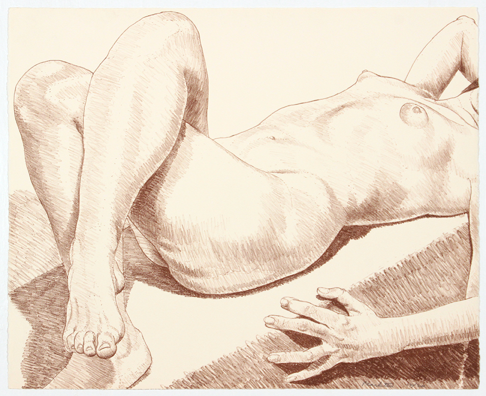 Nude Lying with Crossed Legs , 1969 Lithograph 46 x 57 cm