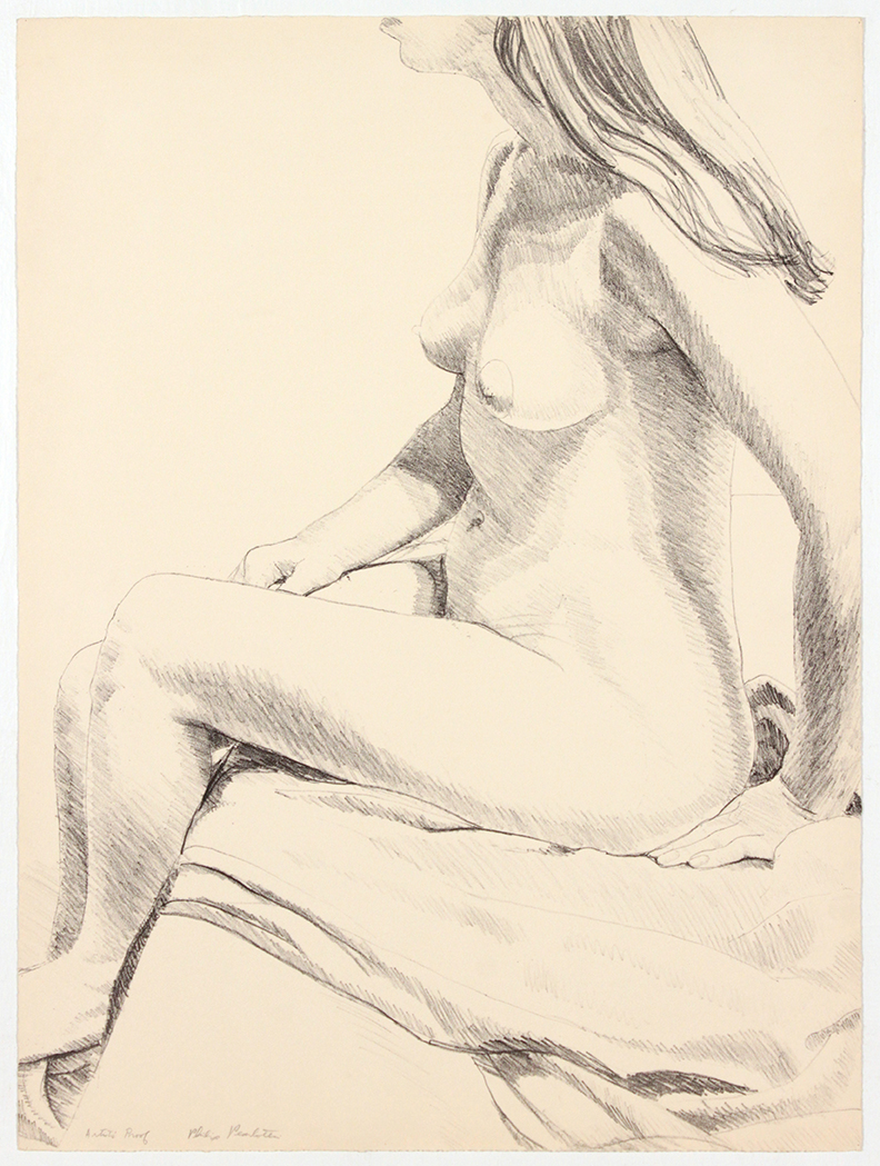 Seated Nude , 1968 Lithograph 59.8 x 46 cm